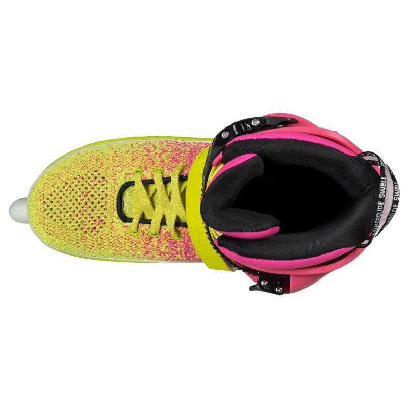 Ролики Powerslide Swell 100, желто-розовые