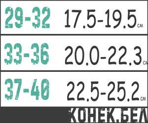 Размерная таблица Tempish neo-x ice