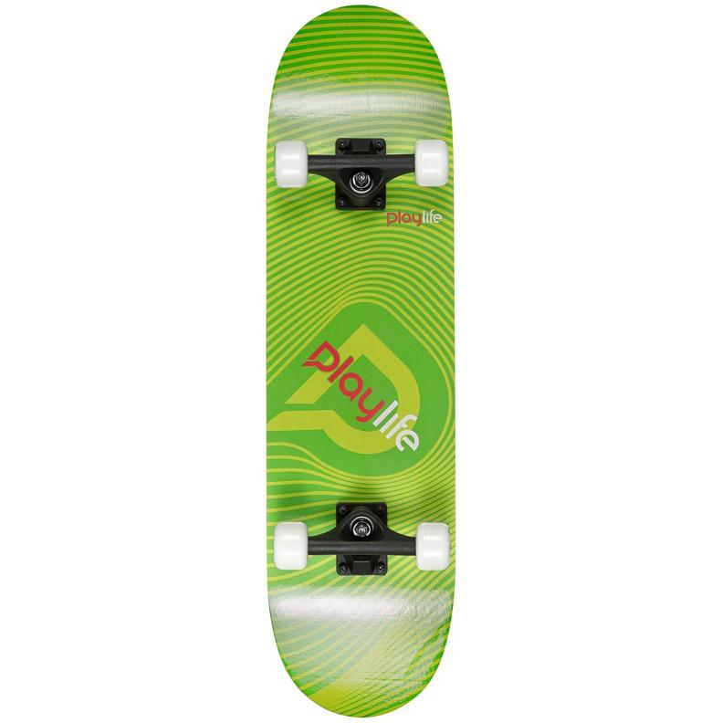 Скейтборд Playlife illusion зеленый