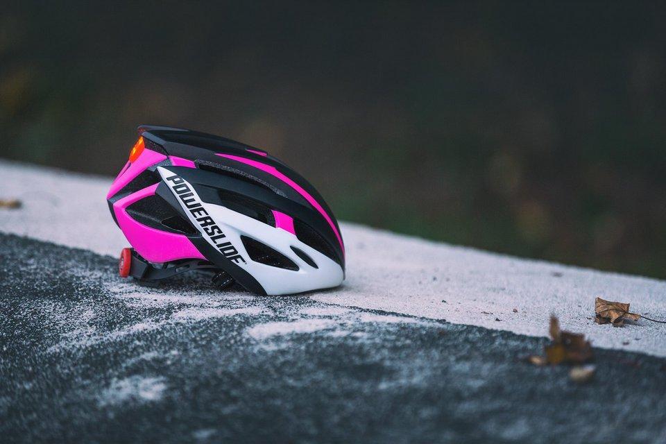 Шлем Powerslide Race Attack бело-розовый