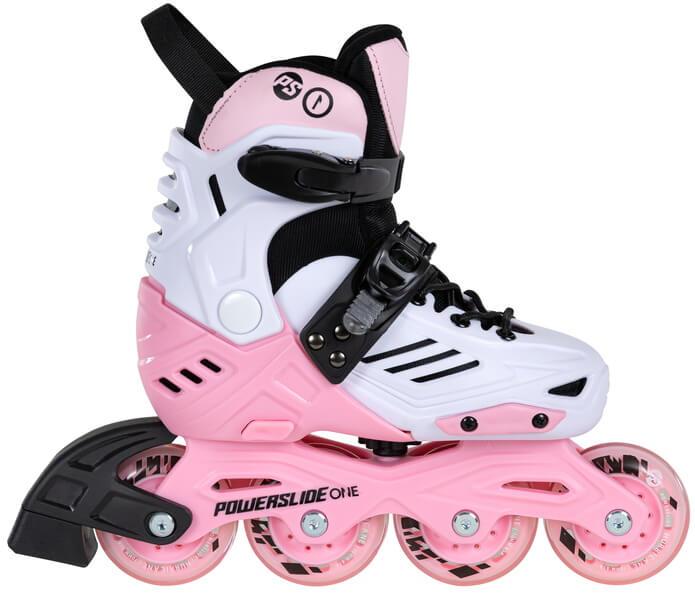 Роликовые коньки Powerslide Khaan Jr. LTD розовые (2020)