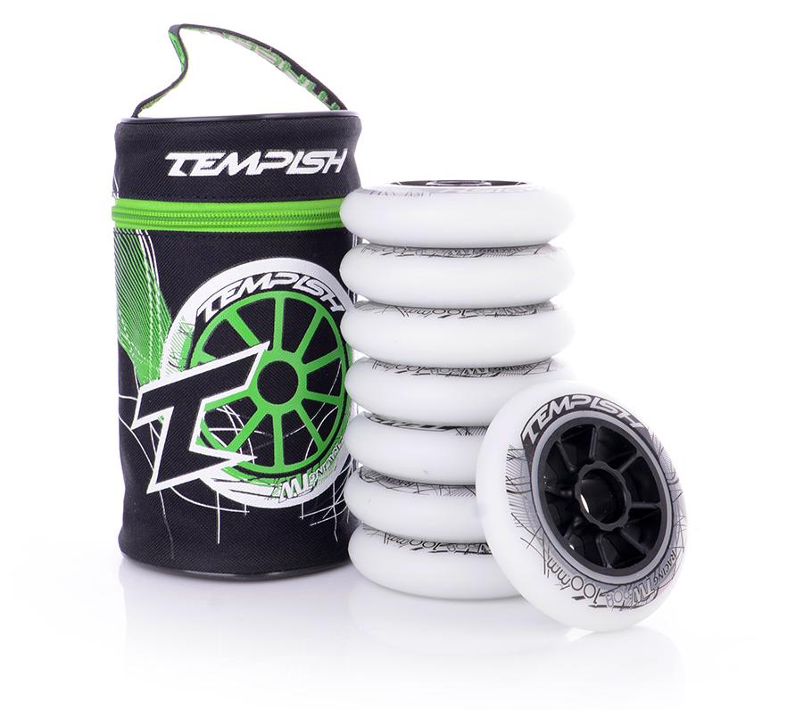 """Колеса для коньков роликовых Tempish """"TW"""" 100x24, белые"""