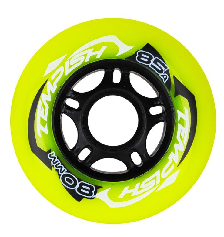"""Колеса для коньков роликовых Tempish """"RADICAL COLOR"""" 80x24, зеленые"""