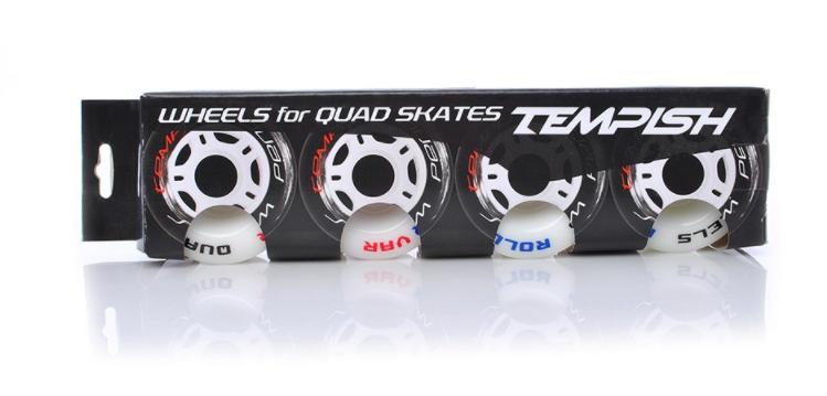 Колеса для роллерных коньков Tempish QUAD, 58x32, белые