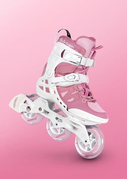 Роликовые коньки Powerslide Phuzion Argon 100 мм розовые